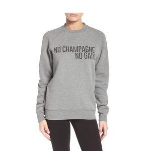 """Brunette the Label """"No Champagne No Gain"""" Sweater"""
